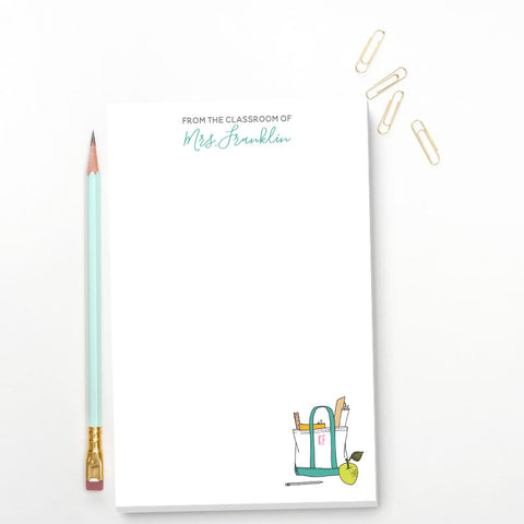 Teacher Appreciation Personalized Notepads