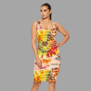 Distorted Sun Tank Dress