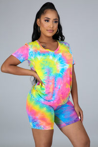 Rainbow Bright Short Set