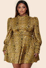 Load image into Gallery viewer, Temptation Cheetah Mini Dress