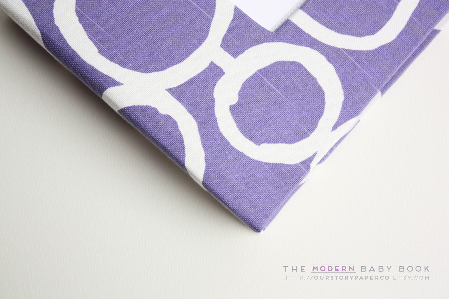 Purple Bubbles Modern Baby Book - Our Story Paper Co.
