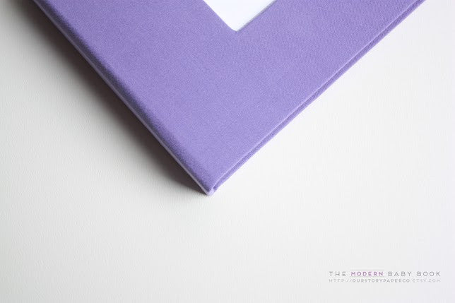 Purple Modern Baby Book - Our Story Paper Co.