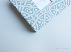 Teal Galaxy Modern Baby Book - Our Story Paper Co.