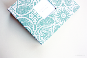 Teal Green Tibi Modern Baby Book