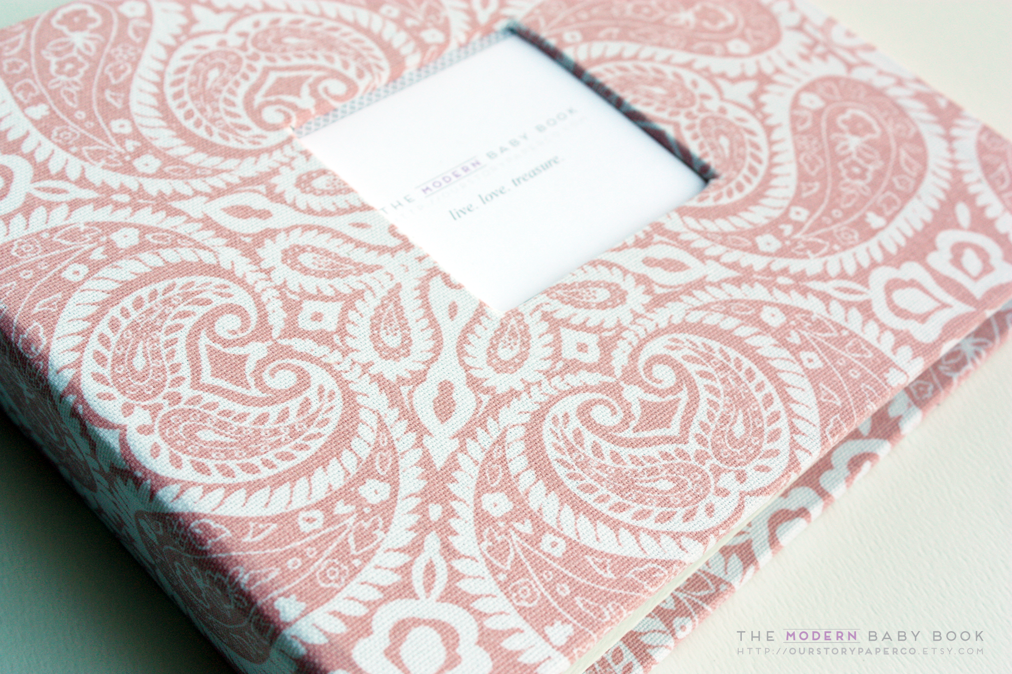 Baby Pink Tibi Modern Baby Book - Our Story Paper Co.