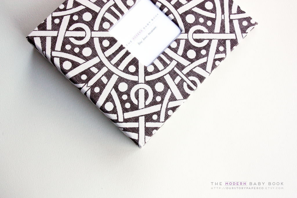 Brown Galaxy Modern Baby Book - Our Story Paper Co.