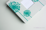 Teal Large Dandelion Modern Baby Book - Our Story Paper Co.