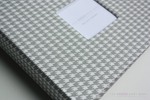 Grey Houndstooth Modern Baby Keepsake Book - Our Story Paper Co.