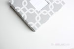 Gray Chainlink Modern Baby Book - Our Story Paper Co.