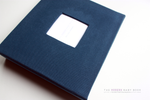 Navy Modern Baby Book - Our Story Paper Co.