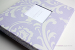 Lavender Wisteria Damask Modern Baby Book - Our Story Paper Co.