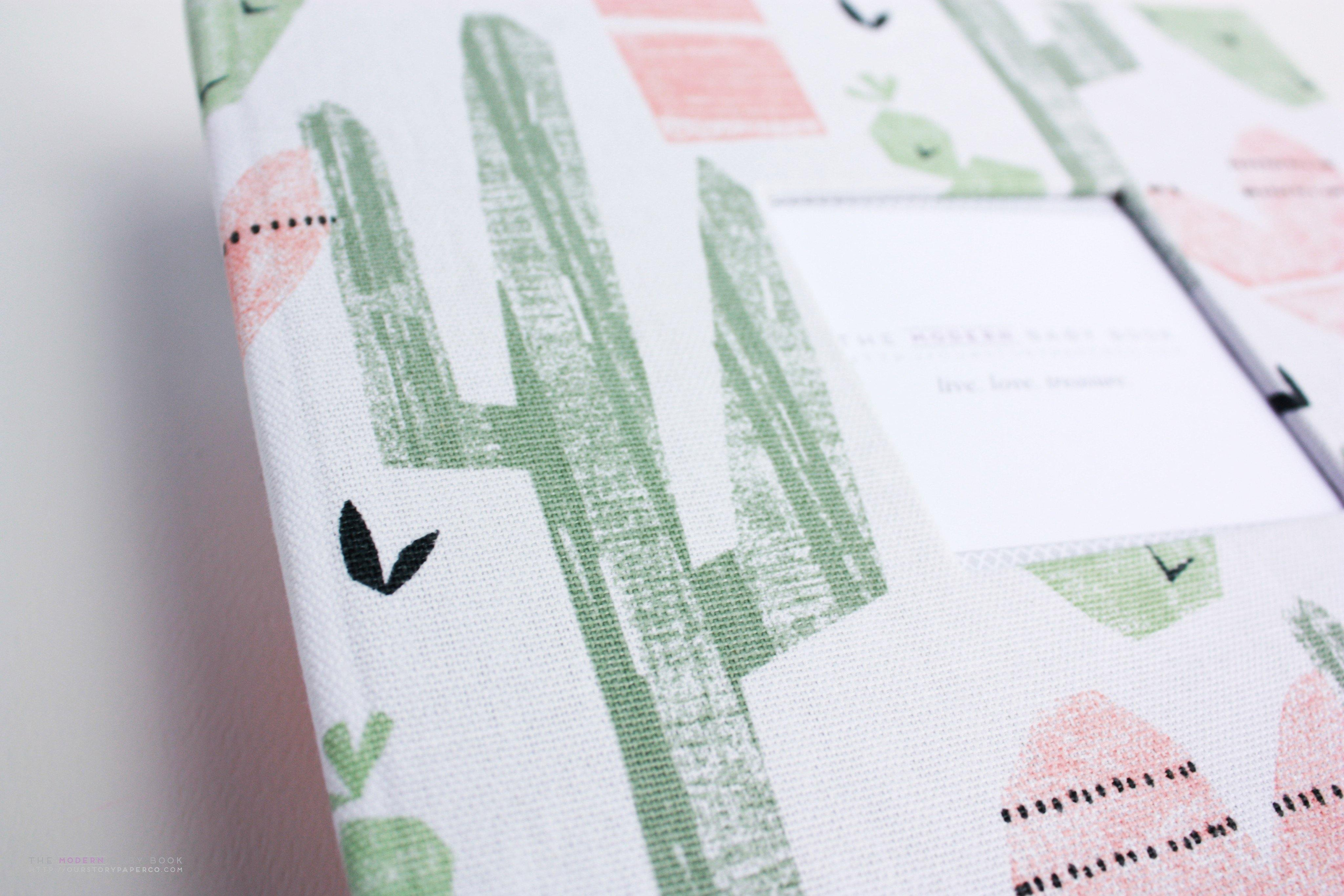 Cactus Paradise Modern Baby Book - Our Story Paper Co.