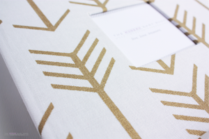 Gold Arrow  Modern Baby Book - Our Story Paper Co.