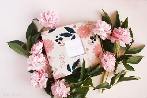 Sparkle Cream Floral Rose Gold  Album - Our Story Paper Co.