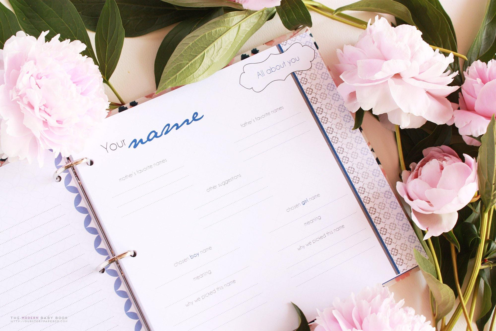 First Year Baby Book Inserts - Our Story Paper Co.