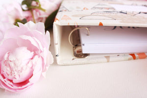 Sparkle Cream Floral Rose Gold Keepsake Album - Our Story Paper Co.