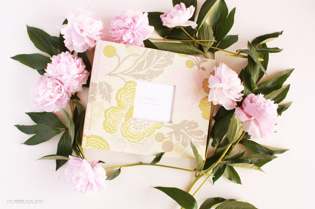 Peony Midwestern Modern Baby Book - Our Story Paper Co.