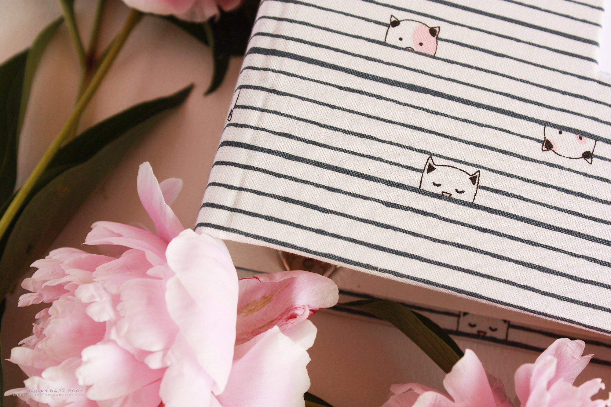 Peekaboo Kitty Paradise Modern Baby Book - Our Story Paper Co.