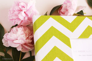 Green Chevron Keepsake Album - Our Story Paper Co.