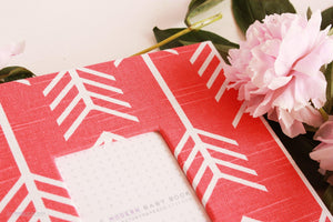 Coral Red Arrow Keepsake Album - Our Story Paper Co.