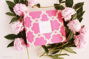 Pink Lattice Album - Our Story Paper Co.