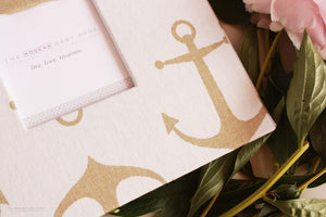 Gold Anchor Keepsake Album - Our Story Paper Co.