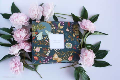 Moonlight Florals Modern Baby Book - Our Story Paper Co.