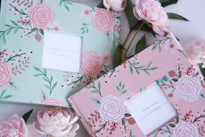Mint Peonies Keepsake Album - Our Story Paper Co.