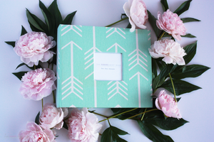 Mint Arrow Modern Baby Book - Our Story Paper Co.