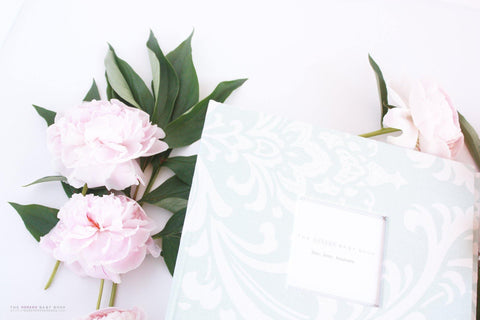 Pastel Teal Damask Album - Our Story Paper Co.