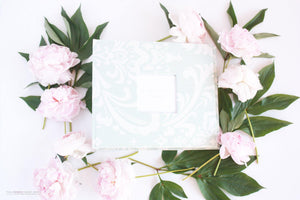 Teal Damask Keepsake Album - Our Story Paper Co.
