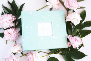 Teal Sparkly Dreams Keepsake Album - Our Story Paper Co.