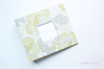 Peony Swirls Floral Modern Baby Book - Our Story Paper Co.