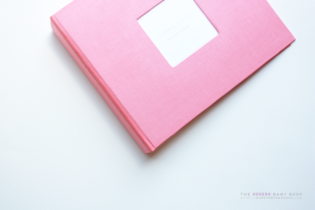 Coral Modern Baby Book - Our Story Paper Co.