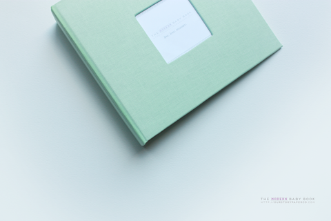 Pastel Green Modern Baby Book - Our Story Paper Co.