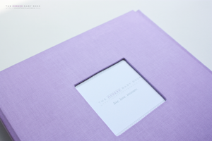 Deep Lavender Modern Baby Book - Our Story Paper Co.