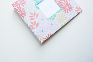 Glitz Garden Pink Modern Baby Book - Our Story Paper Co.