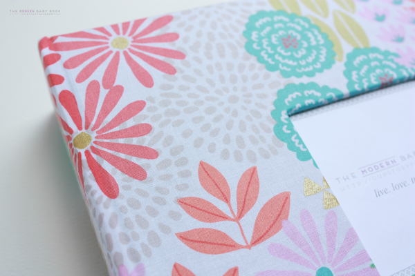 New* Glitz Garden Pink Modern Baby Book - Our Story Paper Co.