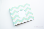 Mint Green with Gold Chevron Modern Baby Book - Our Story Paper Co.