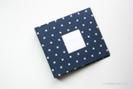 Navy Criss Cross  Modern Baby Book - Our Story Paper Co.