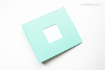 Mint Green Diamond Cross  Modern Baby Book - Our Story Paper Co.