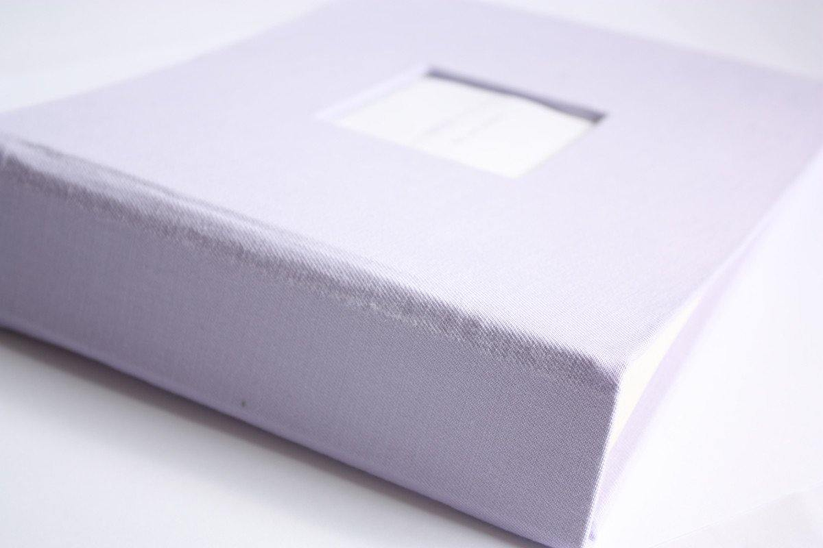 Lavender Modern Baby Book - Our Story Paper Co.