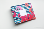 Navy Vintage Rose Modern Baby Book - Our Story Paper Co.