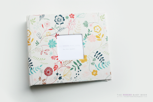 Spring Florals Modern Baby Book - Our Story Paper Co.