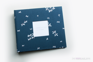 Navy Dragonfly Modern Baby Book - Our Story Paper Co.
