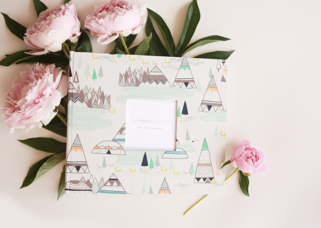 Indian Summer Woodland Modern Baby Book - Our Story Paper Co.