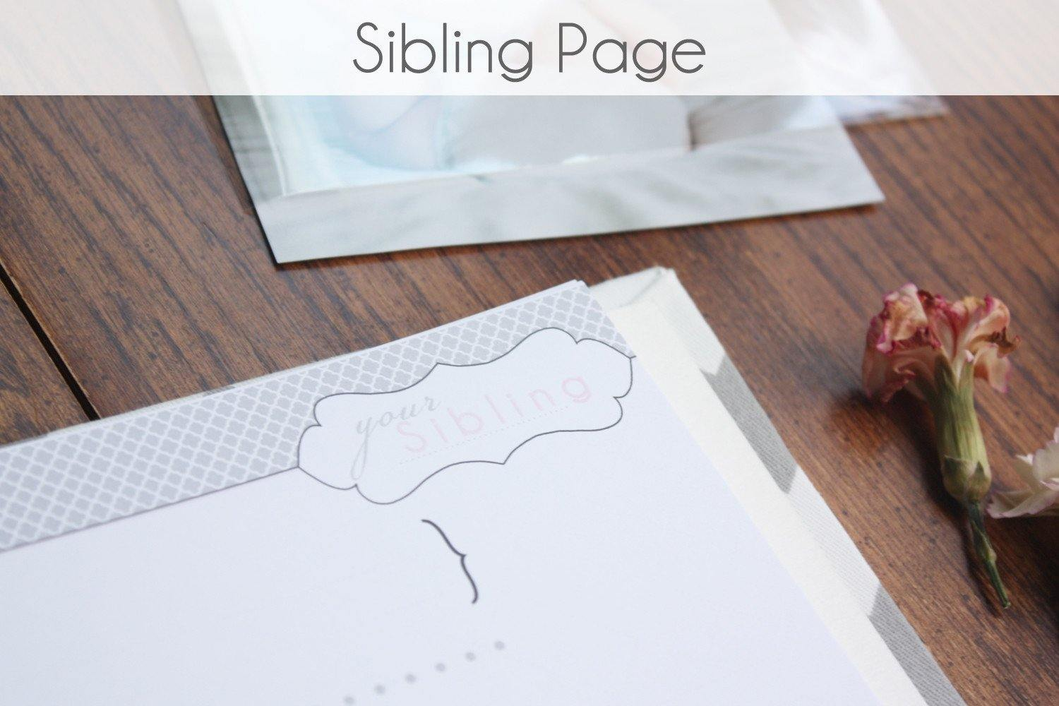 Baby's Sibling Page - Our Story Paper Co.