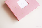 Baby Pink with Gold Criss Cross Keepsake Album - Our Story Paper Co.