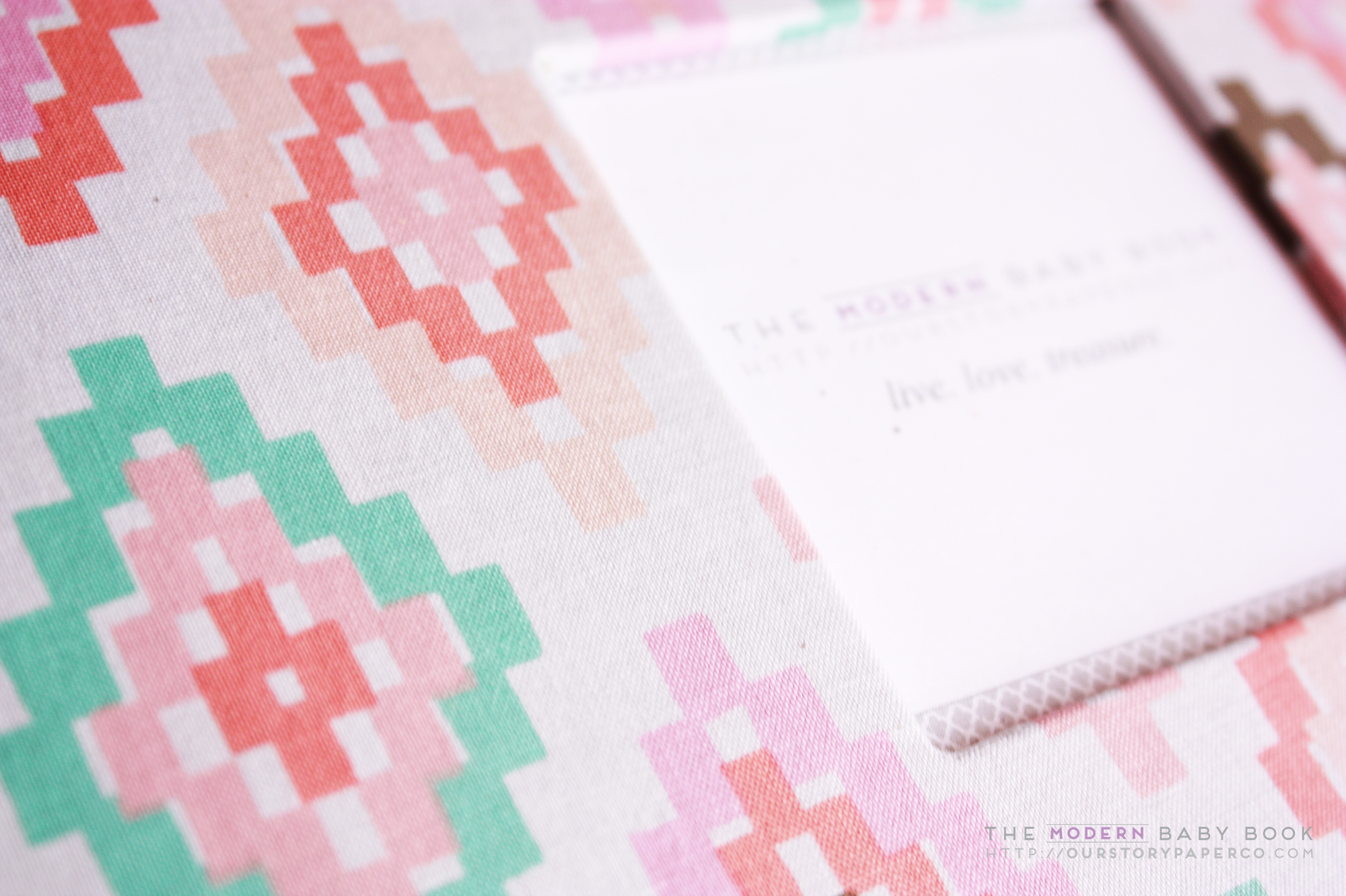 Blush Arrow Flight Modern Baby Book - Our Story Paper Co.