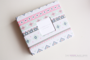 Pirot Evoked Modern Baby Book - Our Story Paper Co.